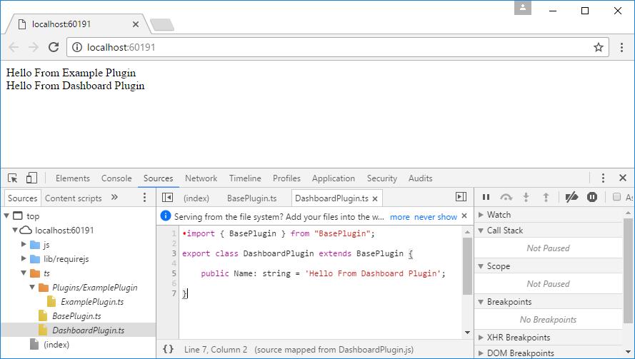 TypeScript Debugging in Chrome Dev Tools