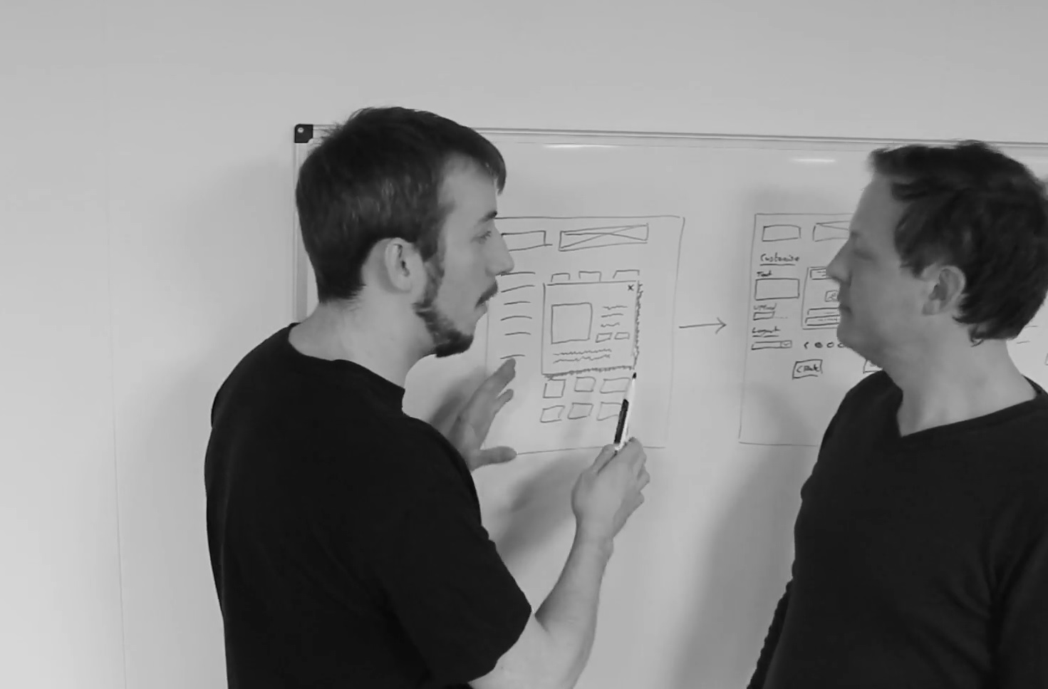 Photo of the Atlas Team creating a software product vision statement