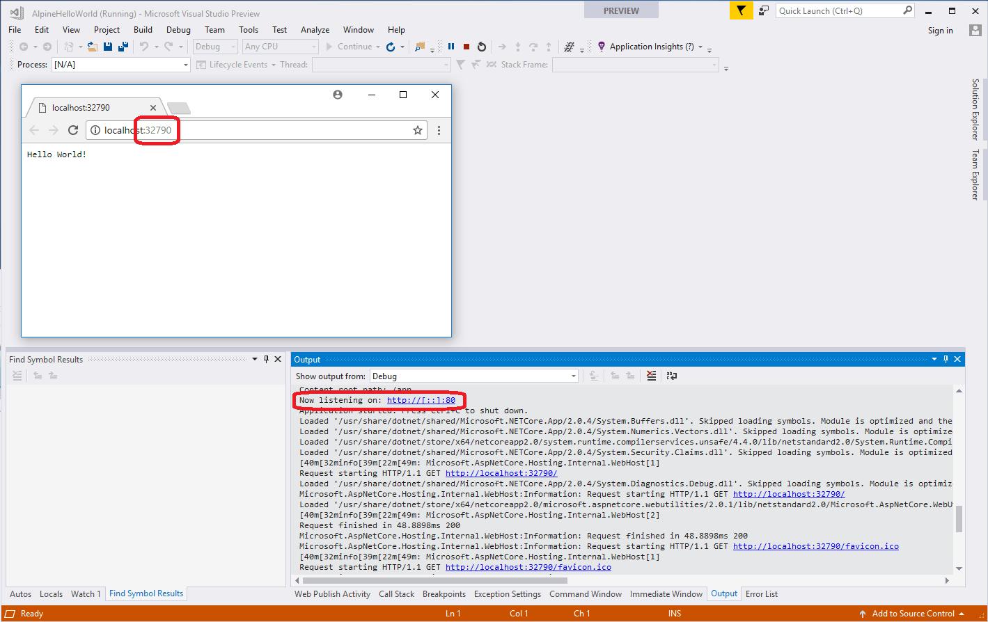 Running ASP NET Core in an Alpine Linux Docker Container - A